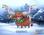 Daily Paint 1495. Hornaments