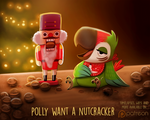 Daily Paint 1496. Polly Want a Nutcracker
