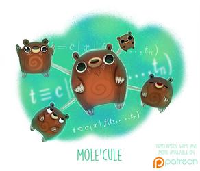 Daily Paint 1505. Mole'cule