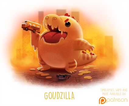 Daily Paint 1508. Goudzilla
