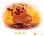 Daily Paint 1508. Goudzilla