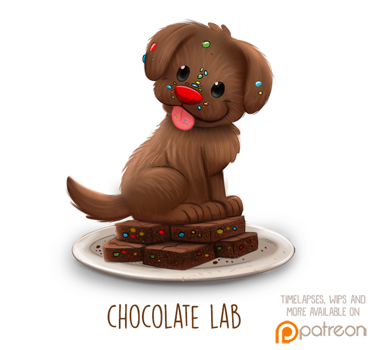 Daily Paint 1510. Chocolate Lab