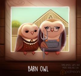 Daily Paint 1511. Barn Owl