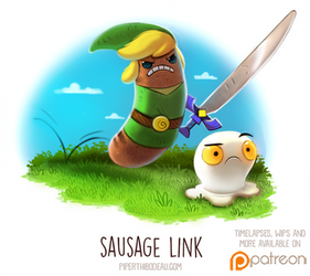 Daily Paint 1513. Sausage Link
