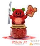 Daily Paint 1516. Raspbeary Jam