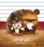 Daily Paint 1518. Hamstar Wars - Han and Chewie