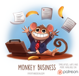 Daily Paint 1519. Monkey Business by Cryptid-Creations