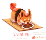 Daily Paint 1523. Sushiba Inu