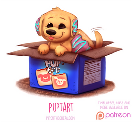 Daily Paint 1525. Puptart by Cryptid-Creations