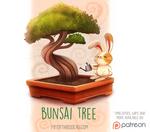 Daily Paint 1527. Bunsai Tree