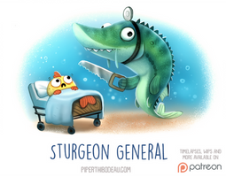 Daily Paint 1529. Sturgeon General
