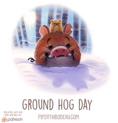 Daily Paint 1535. Ground Hog Day by Cryptid-Creations