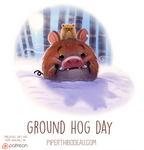Daily Paint 1535. Ground Hog Day