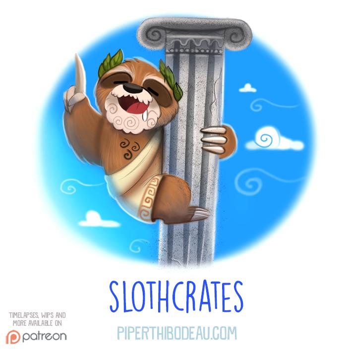 Daily Paint 1540. Slothcrates