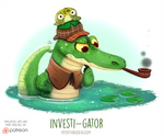 Daily Paint 1541. Investi-gator