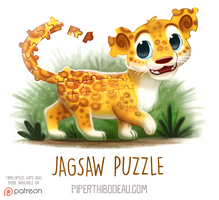 Daily Paint 1543. Jagsaw Puzzle by Cryptid-Creations