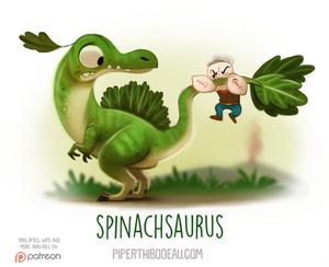 Daily Paint 1545. Spinachsaurus