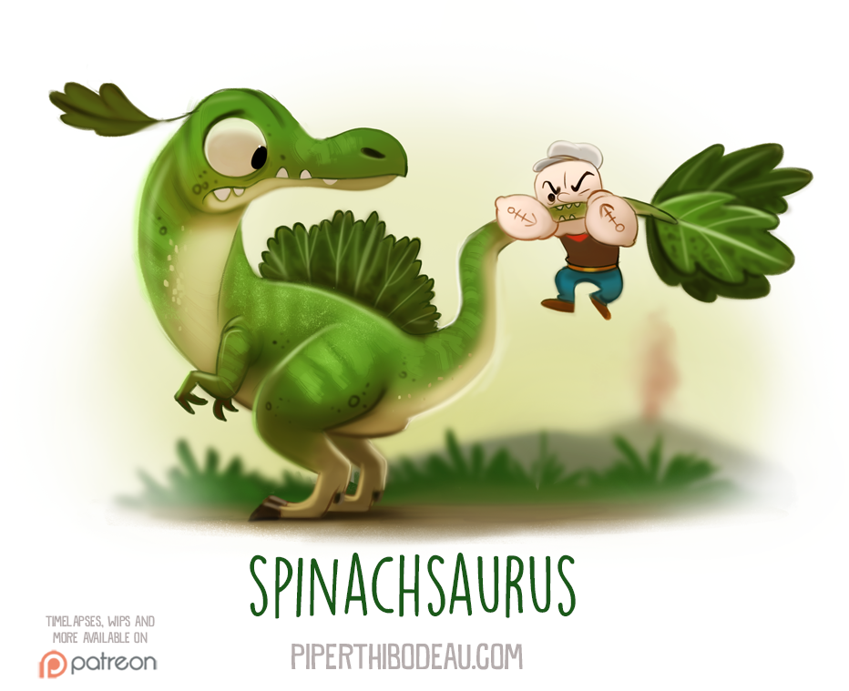 Daily Paint 1545. Spinachsaurus