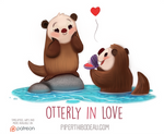 Daily Paint 1546. Otterly in Love