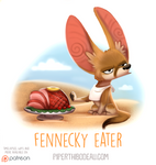 Daily Paint 1547. Fennecky Eater