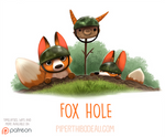 Daily Paint 1550. Fox Hole