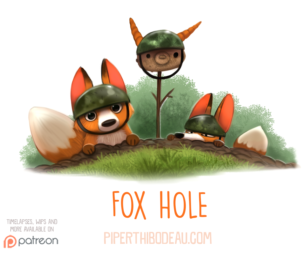 Daily Paint 1550. Fox Hole