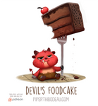 Daily Paint 1558. Devil's Foodcake
