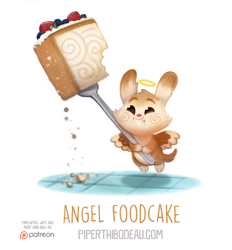 Daily Paint 1559. Angel Foodcake