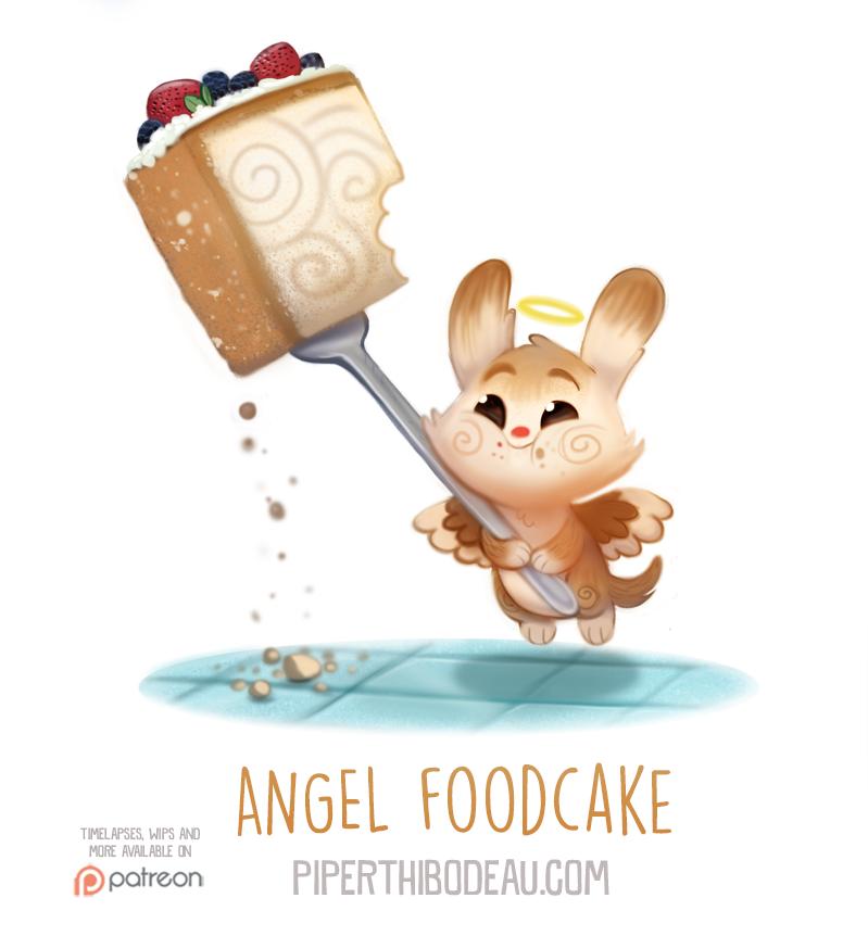 Daily Paint 1559. Angel Foodcake