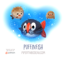 Daily Paint 1560. Puffinfish