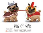 Daily Paint 1563. Pug of War
