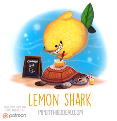 Daily Paint 1564. Lemon Shark by Cryptid-Creations