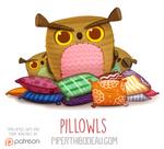 Daily Paint 1565. Pillowls