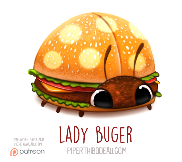 Daily Paint 1566. Lady Buger