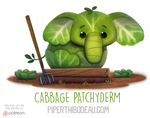 Daily Paint 1567. Cabbage Patchyderm