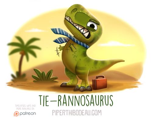 Daily Paint 1569. Tie-rannosaurus