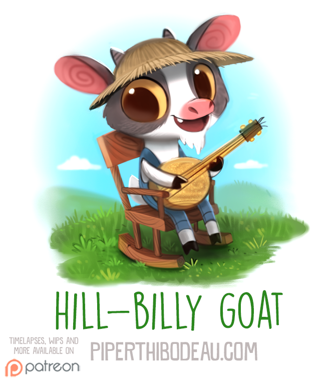 Daily Paint 1574. Hill-Billy Goat by Cryptid-Creations