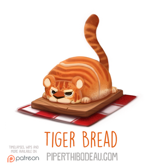 Daily Paint 1577. Tiger Bread