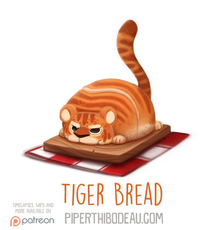 Daily Paint 1577. Tiger Bread by Cryptid-Creations
