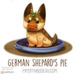 Daily Paint 1578. German Shepard's Pie
