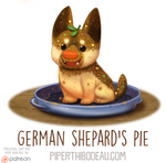 Daily Paint 1578. German Shepard's Pie