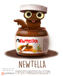 Daily Paint 1584. Newtella by Cryptid-Creations