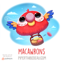 Daily Paint 1585. Macawrons