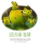 Daily Paint 1592. Lolpear Bear