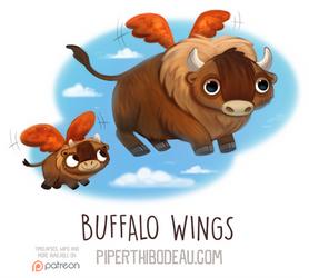 Daily Paint 1593. Buffalo Wings