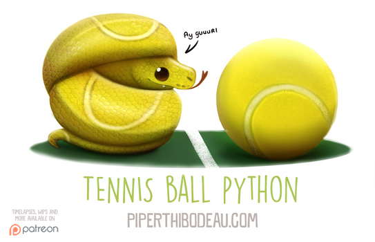 Daily Paint 1594. Tennis Ball Python