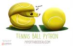Daily Paint 1594. Tennis Ball Python