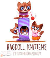 Daily Paint 1595. Ragdoll Knittens by Cryptid-Creations