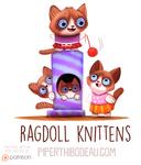 Daily Paint 1595. Ragdoll Knittens