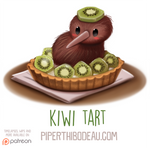Daily Paint 1600. Kiwi Tart